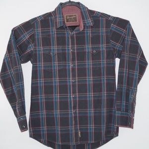 Wangler Retro Men's plaid Western Shirt Size M
